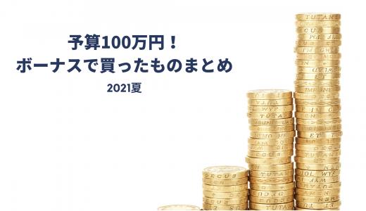 【2021年夏】予算100万円!ボーナスで買ったものまとめ。おうち生活を充実させるものを多数購入